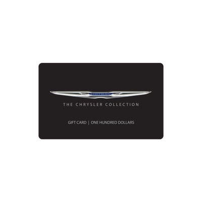 $100 Chrysler Collection Gift Card