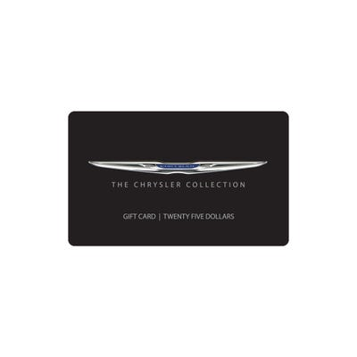 $25 Chrysler Collection Gift Card