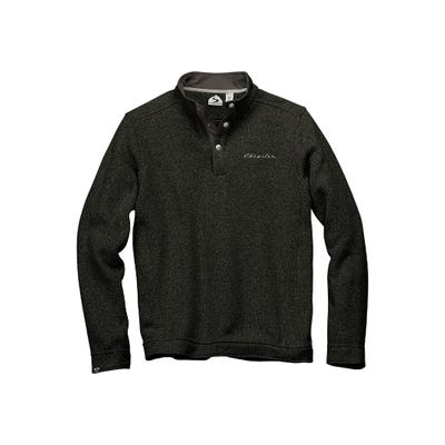 Men's Snap-Front Sweater Fleece Pullover