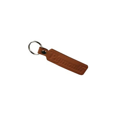 Plymouth Leather Keychain