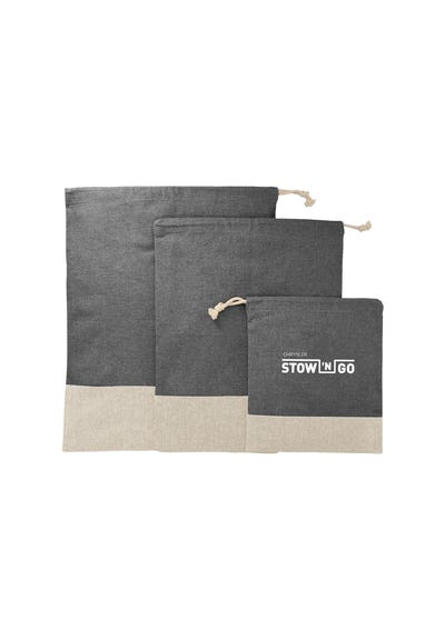 Recycled 3pc Travel Pouch Set
