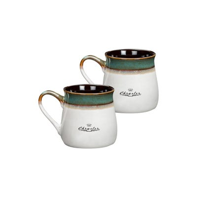 Set of 2 16 oz Ceramic Mugs