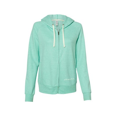 Women's Snow Heather French Terry Zip-up Hooded Sweatshirt